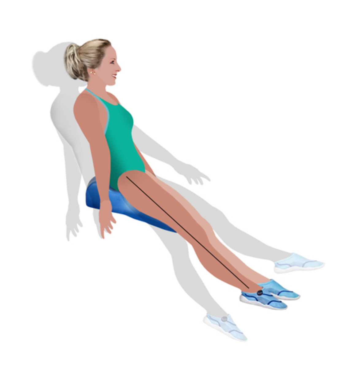 Balance ball in the water.  Work your core muscles.  Water Aerobics - Take Your Workout to the Water!  Exclusive Seated Balance - a balance ball in the water