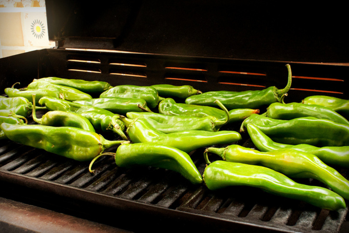 Hatch chilis, a specialty of Hatch, New Mexico.