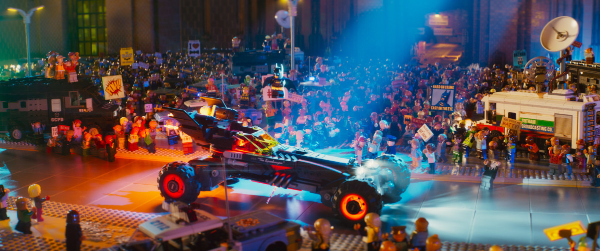 The film's constant movement and fluidity remind you that this is a CG film and not one constructed from actual Lego, despite the appearance. It's a love letter to the toy as much as it is to Batman.