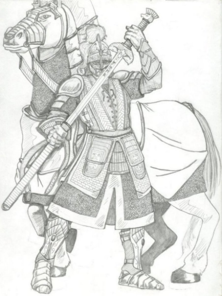 Celtic knight illustration - contrary to Angevin propaganda, by the time Henry II invaded Ireland it was a Christian island, if fragmented.  Gaelic military achievement was not up to rebutting the Normans