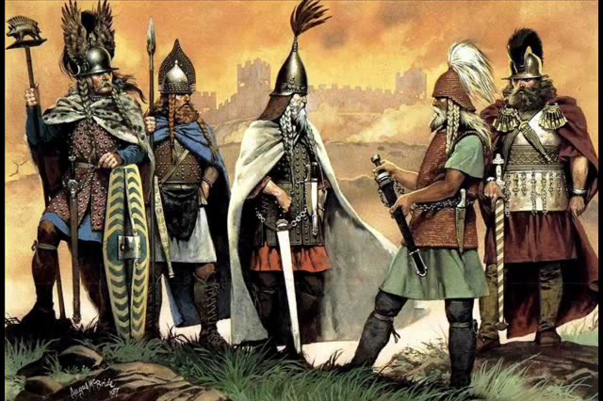 Early Celtic warrior leaders - men like these would have led their number onto Irish shores