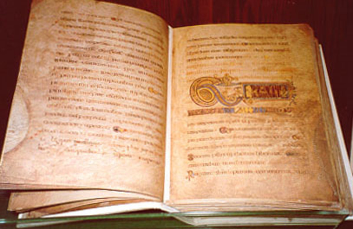 The Book of Kells, along with the Lindisfarne Gospels and a small number of others amongst the finest examples of manuscript illumination - the work was begun on Iona in the Inner Hebrides