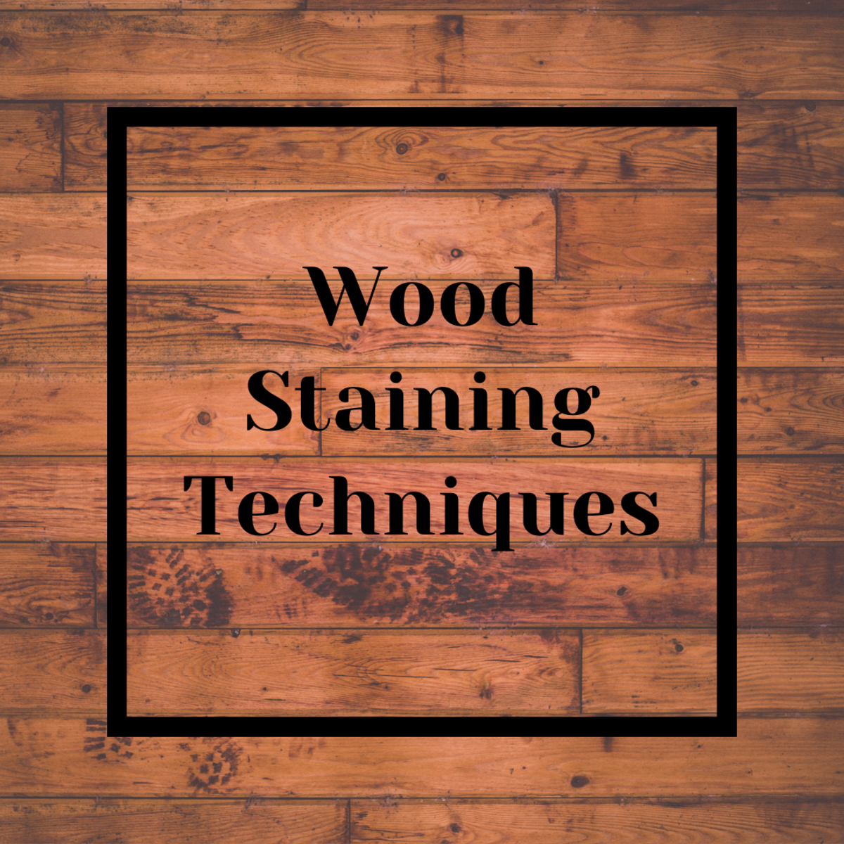 Learn how you can use readily available craft materials to stain wood with excellent results.