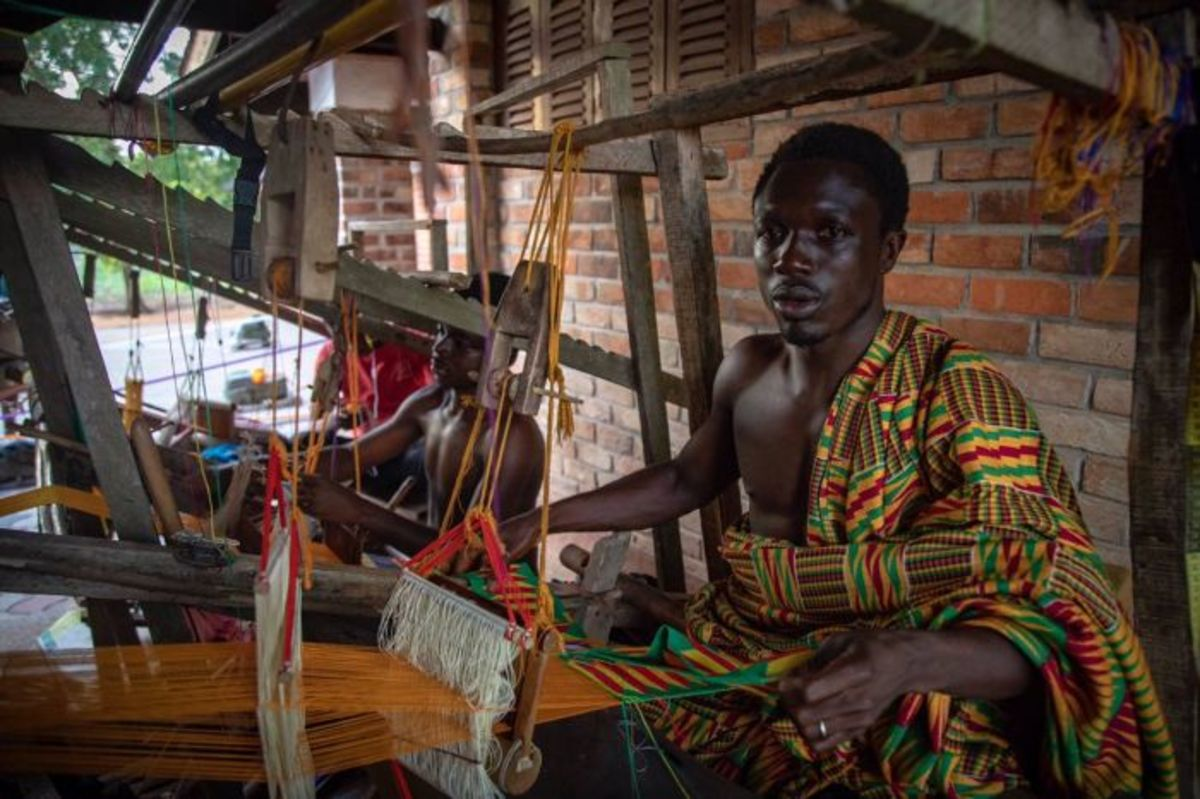 In the past, kente was reserved only for the Asante royals and aristocrats, and limited to special social and sacred functions.
