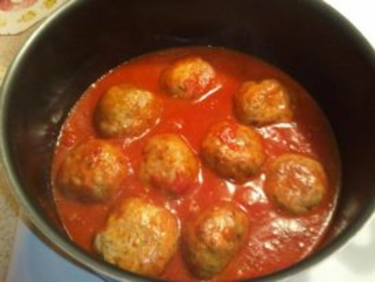 Meatballs Swimming in the Sauce