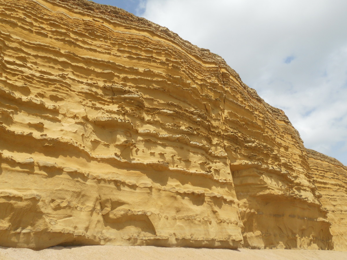 The cliffs at Burton Bradstock