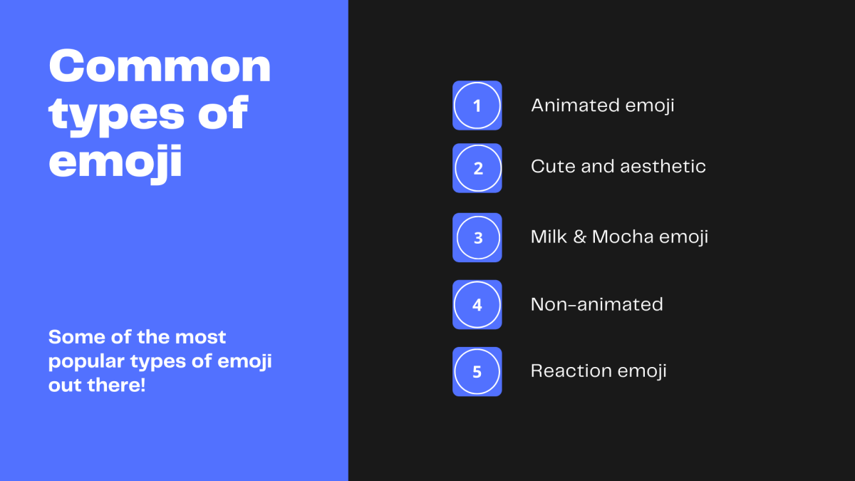 Here are some of the most common types of emoji!