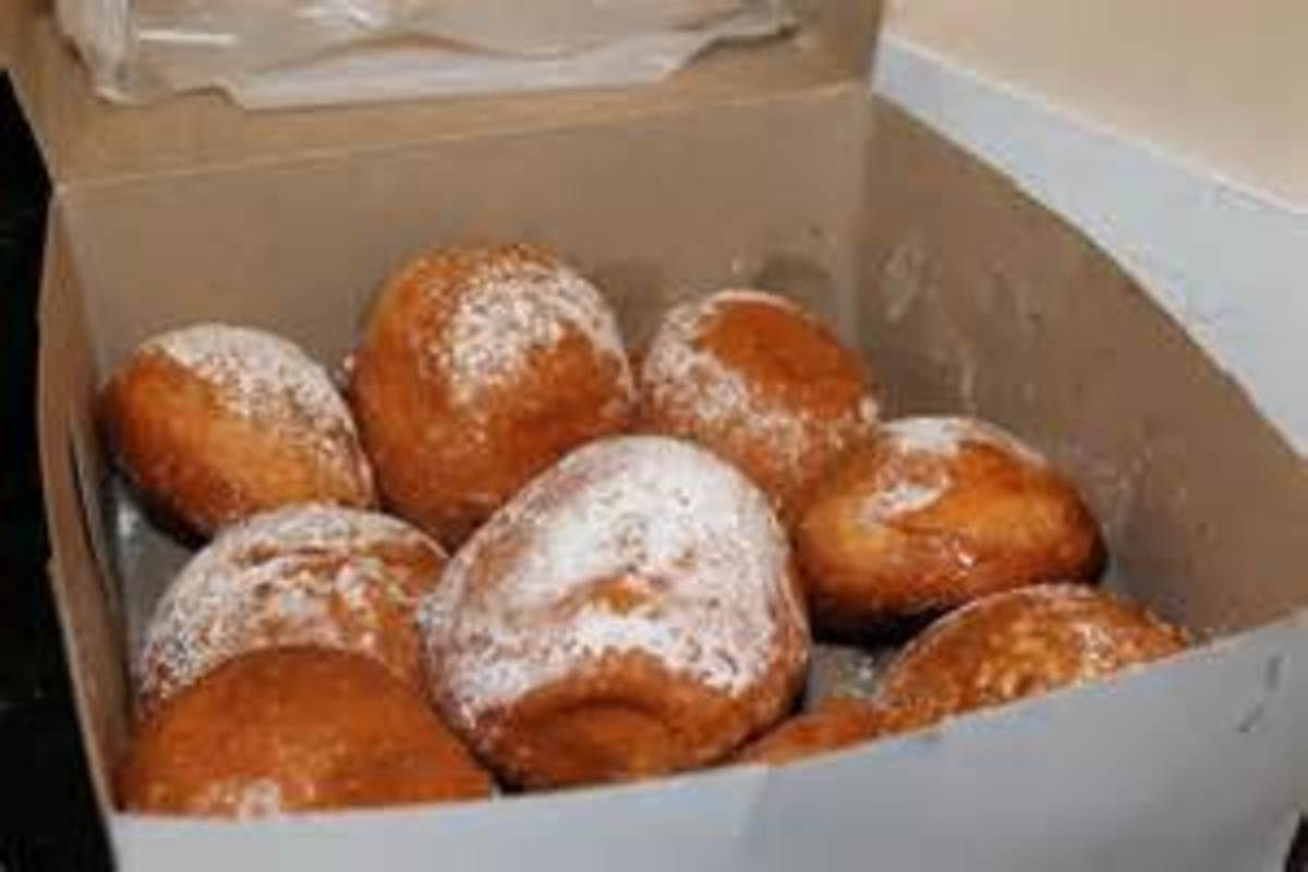 paczki from the bakery