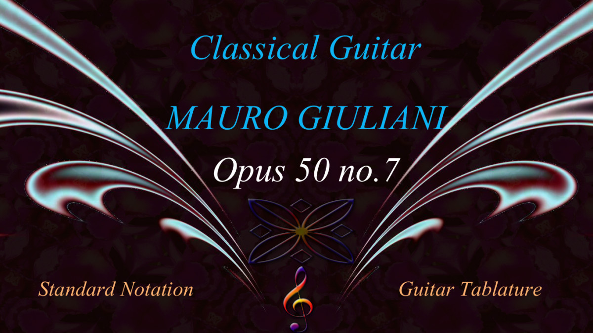 Giuliani: Opus 50 no.7 - Classical Guitar Arrangement in Standard Notation and Guitar Tab