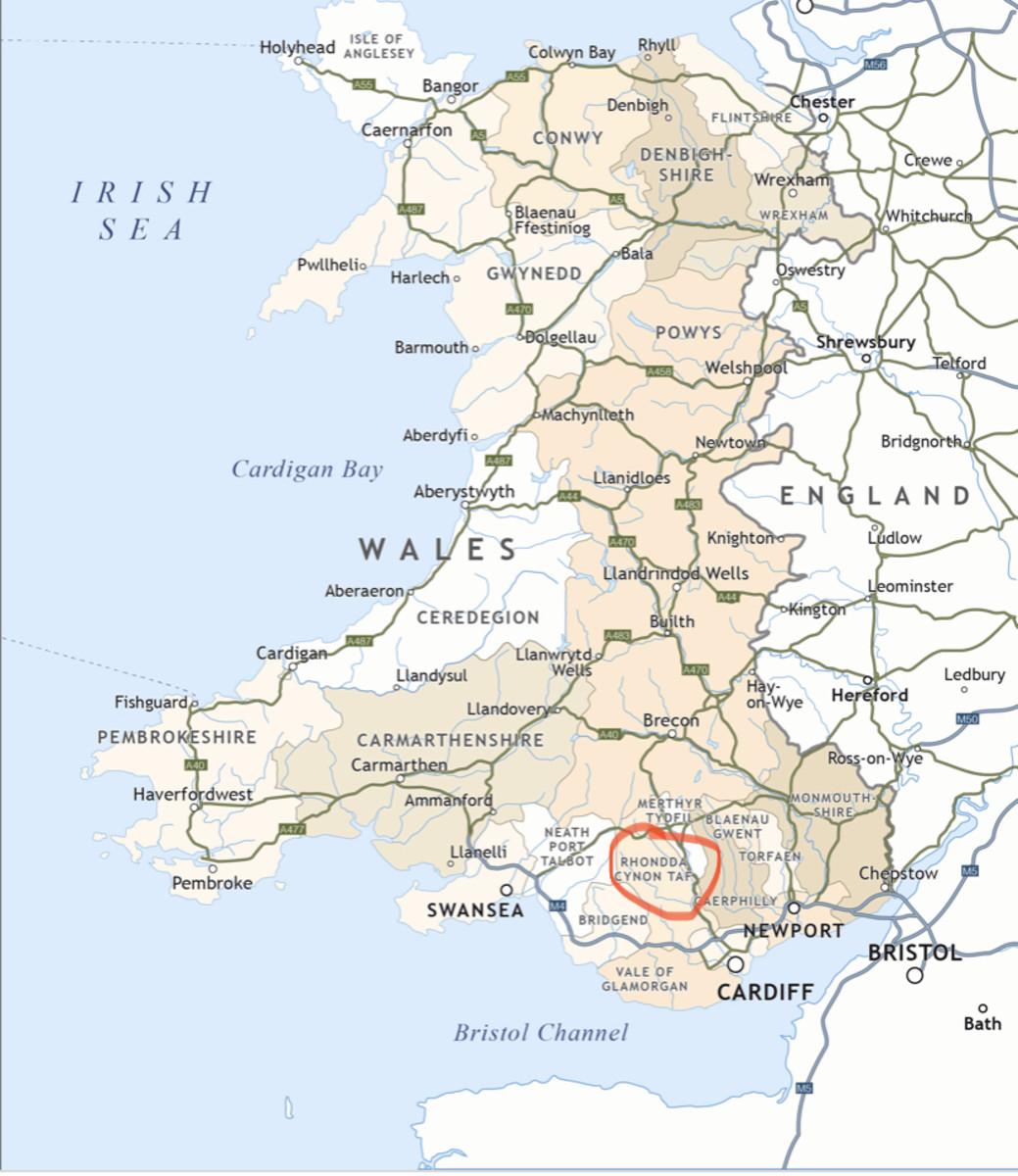 Llanharan, located in the Rhondda Cynon Taf in South Wales.