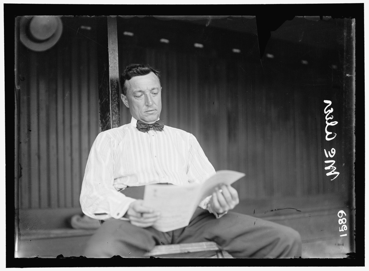 James McAleer, seen later in his career with Washington, was the manager of the 1901 Cleveland Blues and was one of the franchise's earliest stockholders.