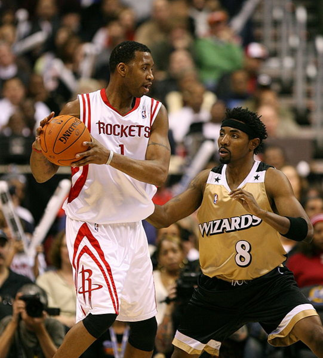 Tracy McGrady playing for the Houston Rockets.