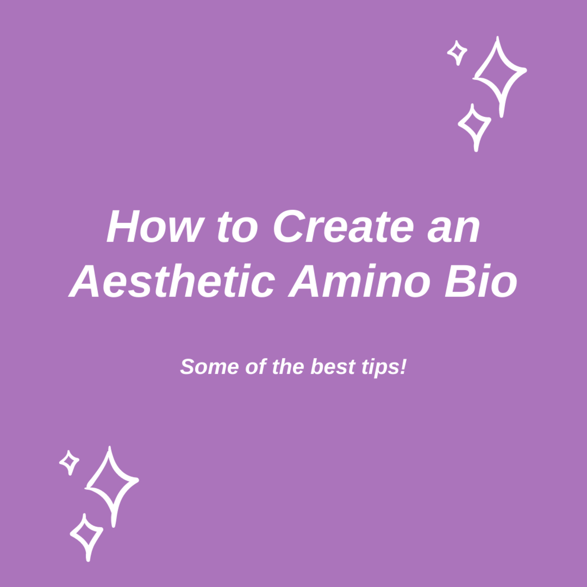 Learn how to create an aesthetic Amino bio in this in-depth guide!