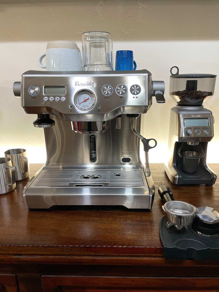 This is the espresso machine I use at home.