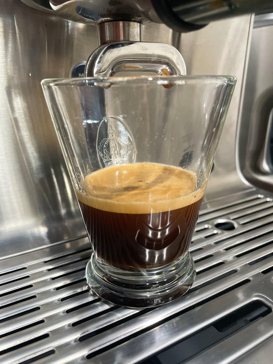 Voila, the espresso shots.