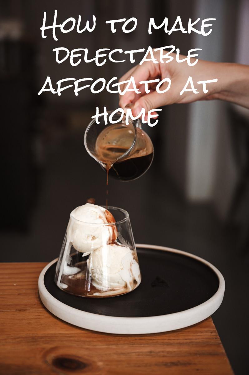 Traditional affogato is made with espresso and vanilla ice cream