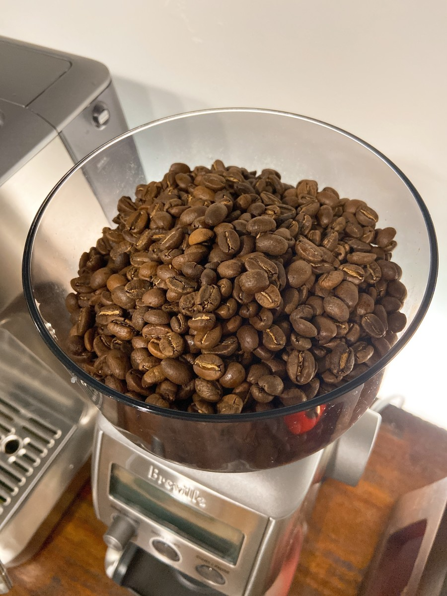 The coffee beans I used at home are 100% arabica and medium roast.