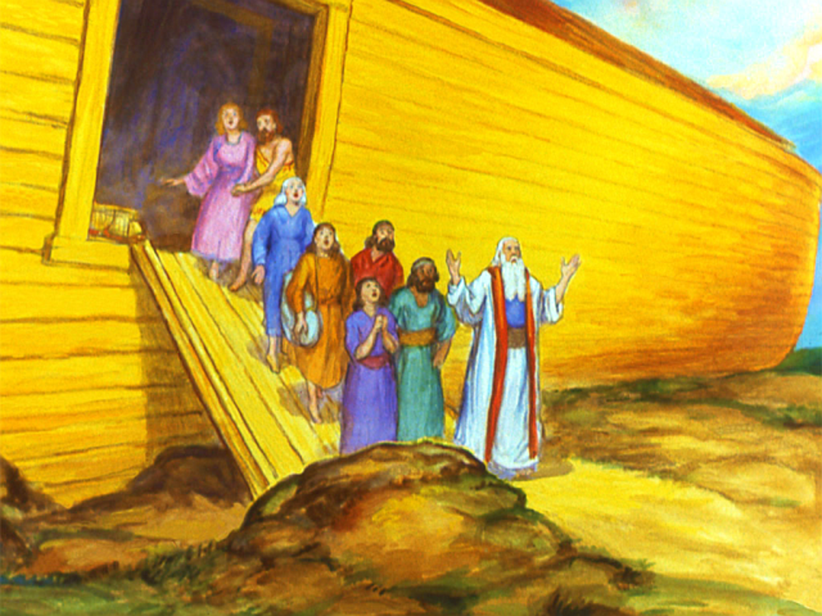 Noah and Family Comes Out of the Ark