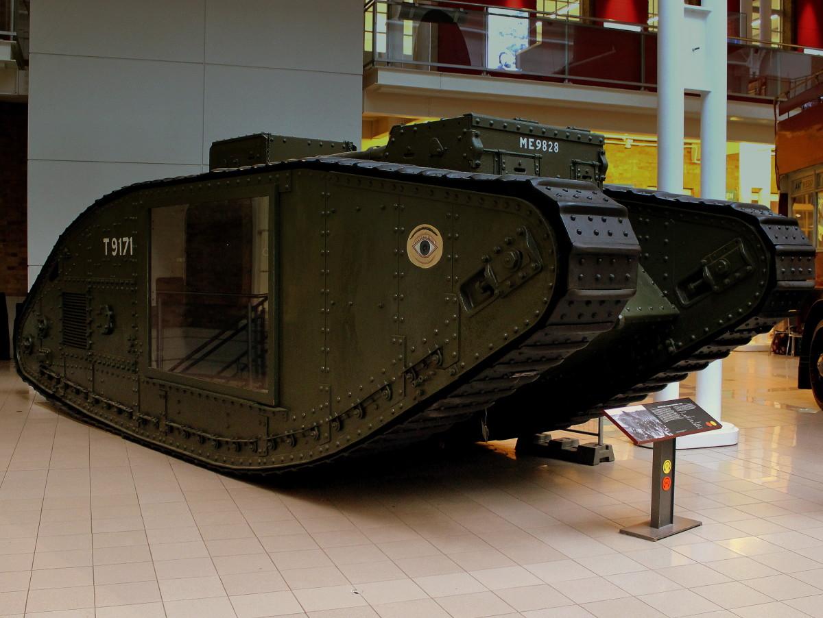 A classic World War I tank — the British Mark V