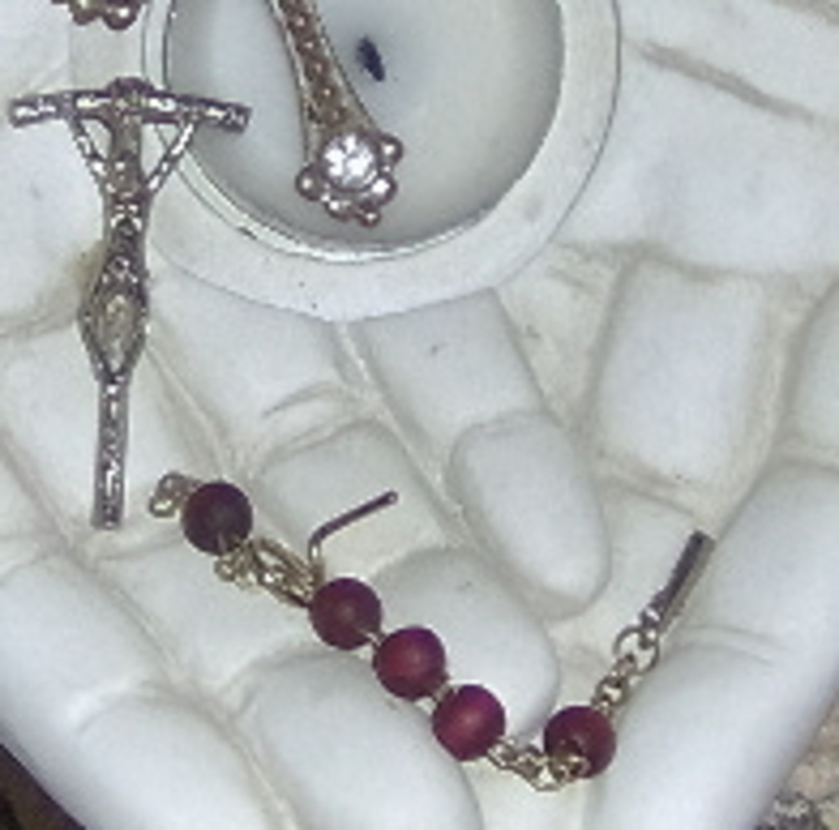 Desecration of my Jessie's Rosary.