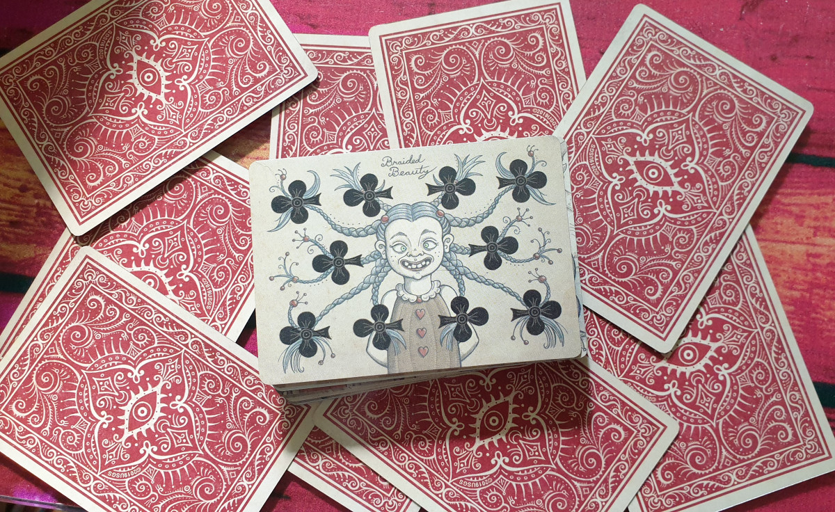 Royal Mischief Playing Cards. Photo by author.