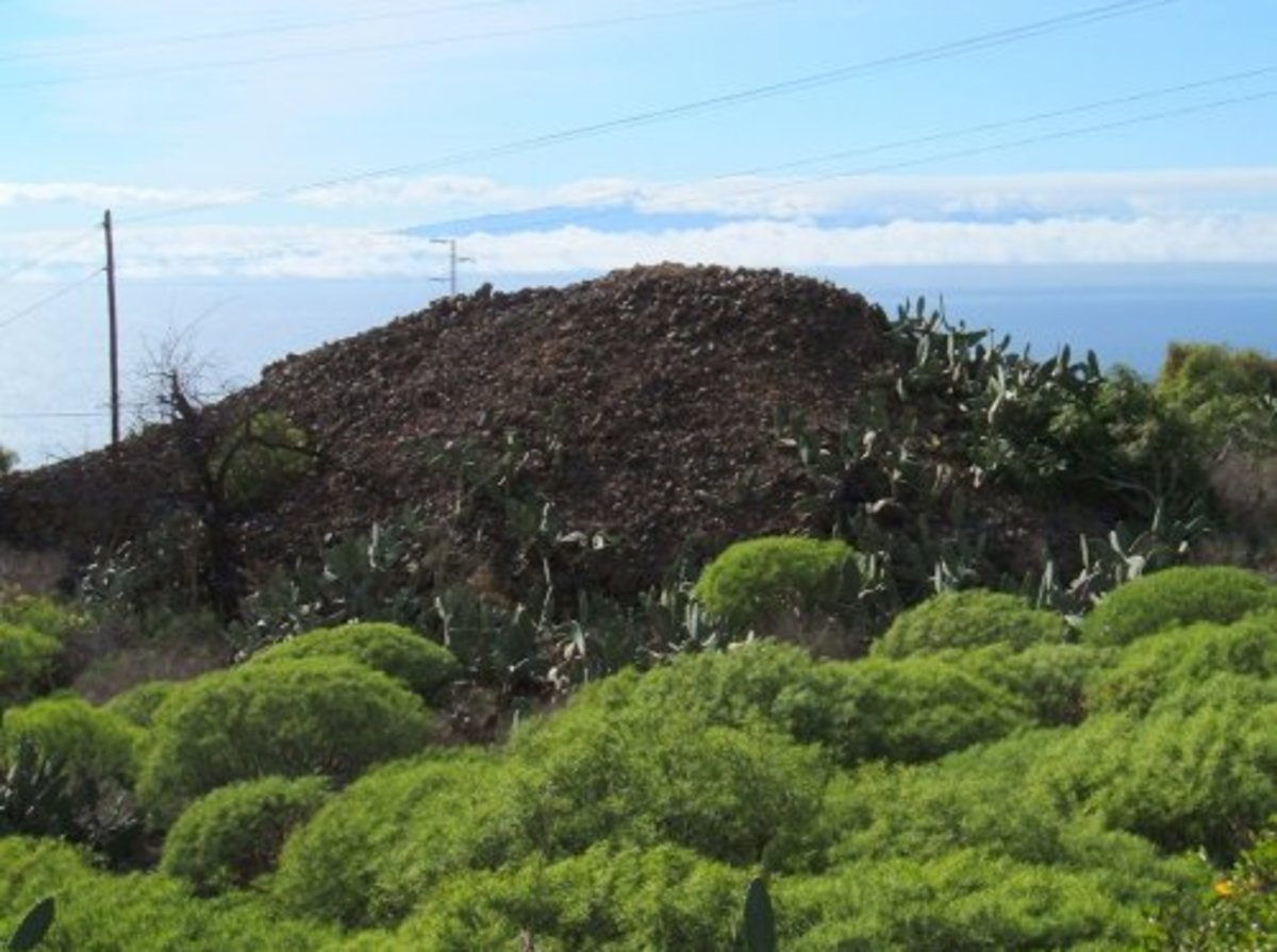 One of the cairns or mounds