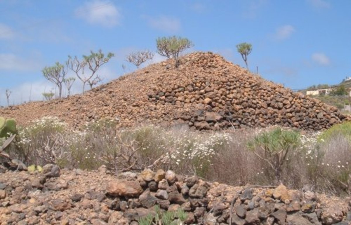 Triangular-shaped cairn