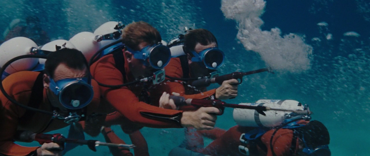 The film features some of the longest and most spectacular underwater action scenes ever shot.