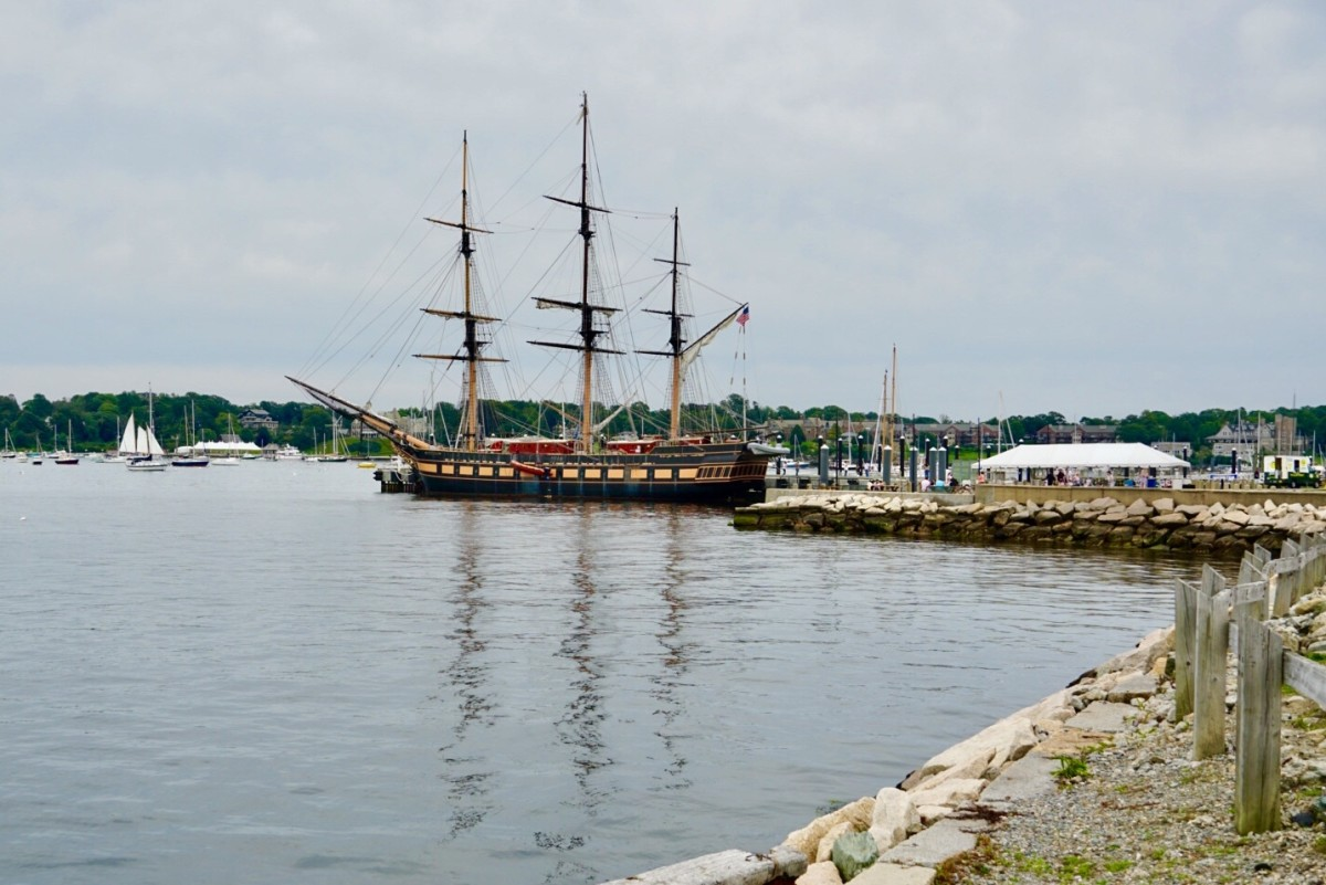 The view from Fort Adams State Park