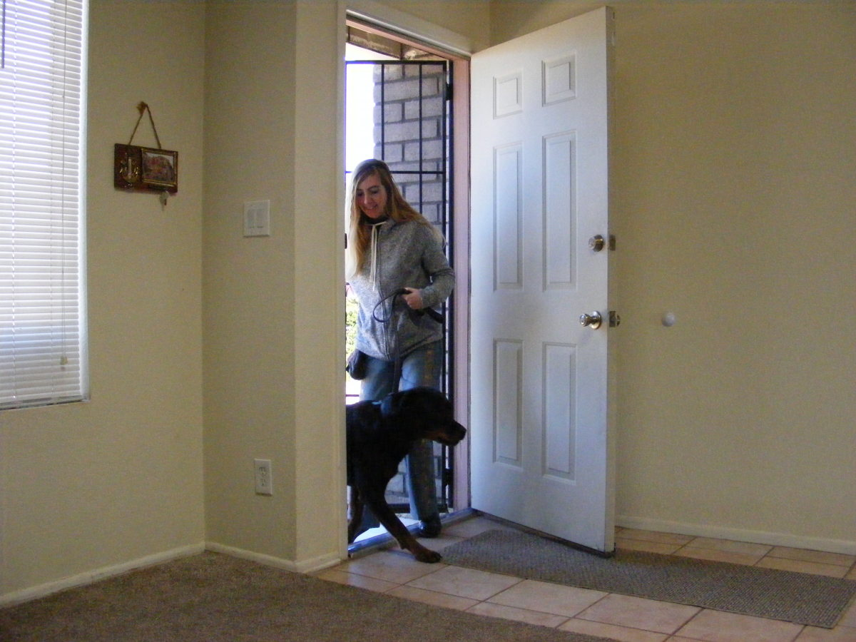 I also use this method for dogs reactive towards people/dogs entering the home.