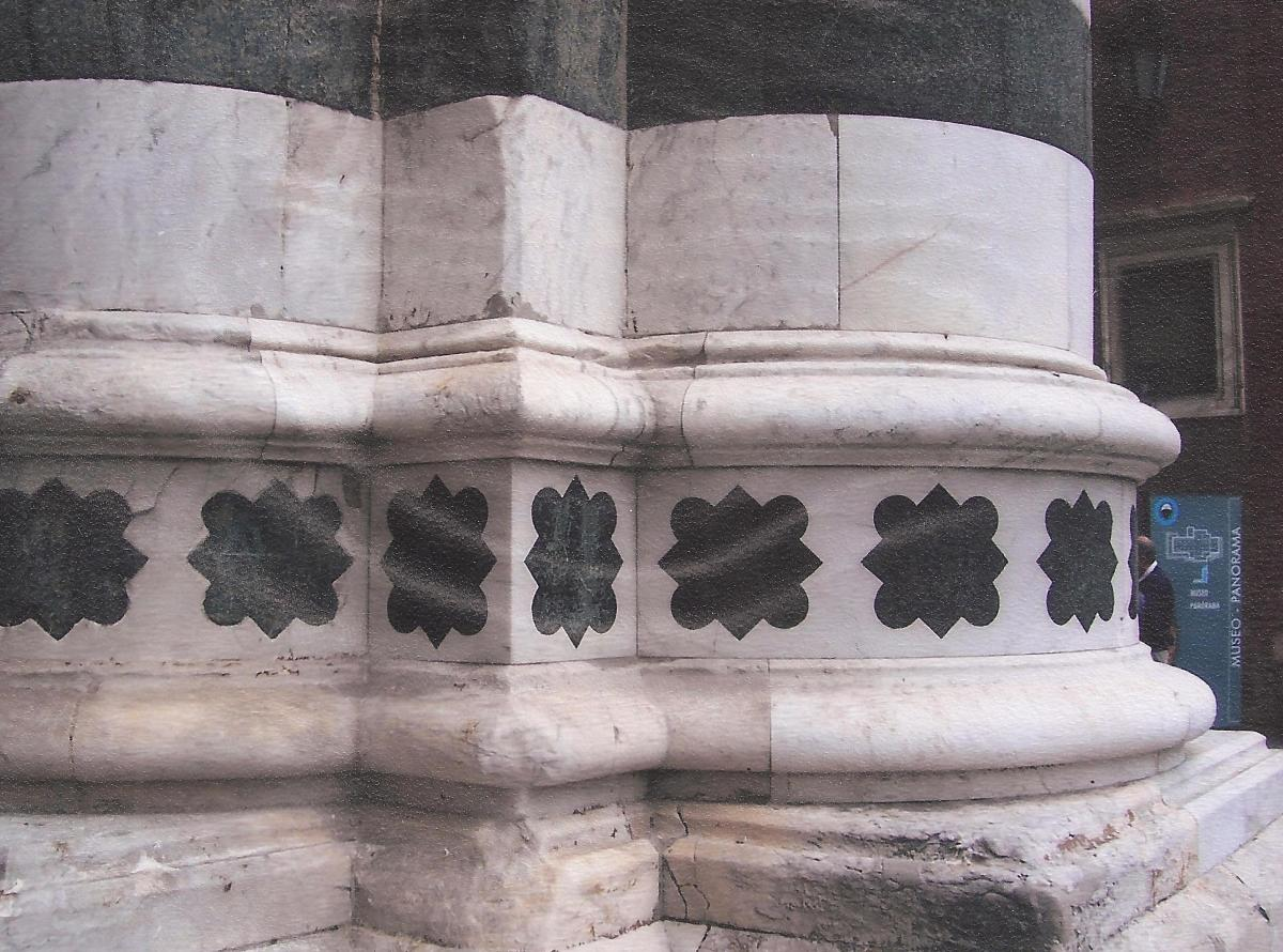 Detail of exterior column, Siena Cathedral