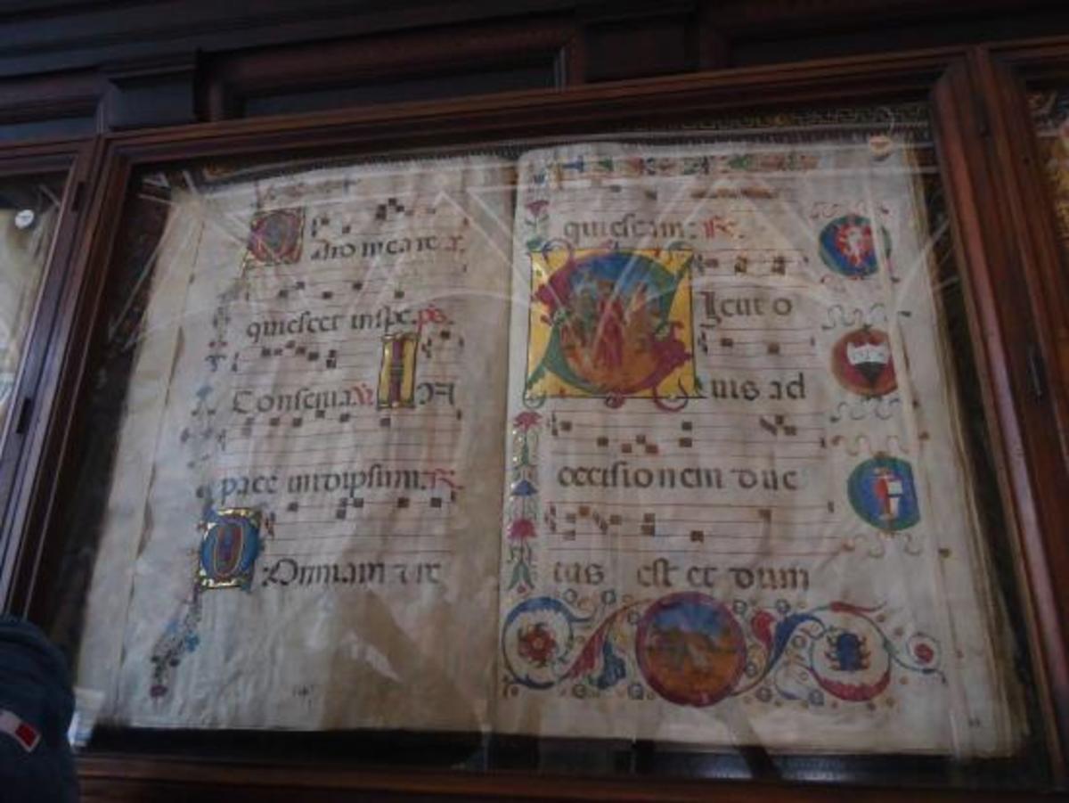 Manuscript in the Piccolomini library