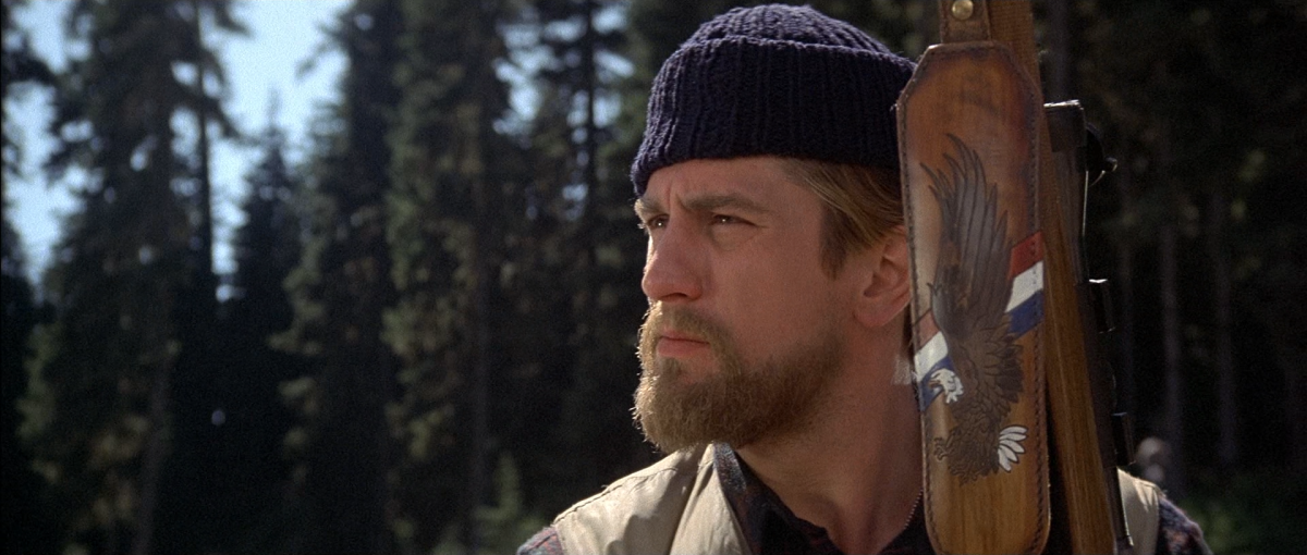 De Niro is simply magnificent as a tortured and psychologically damaged Vietnam veteran in 'The Deer Hunter'.