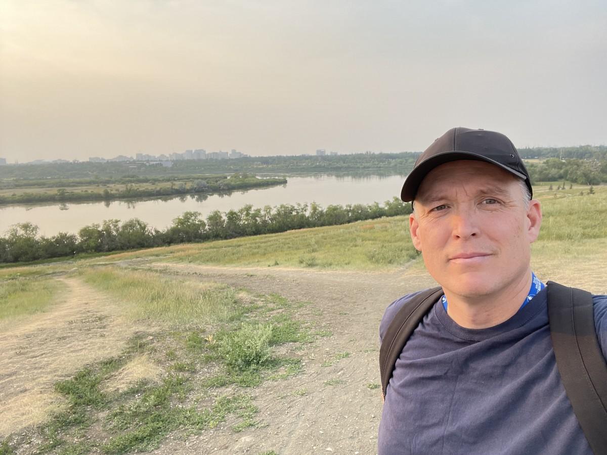 A photo taken from Wascana Hill in Regina, Saskatchewan.