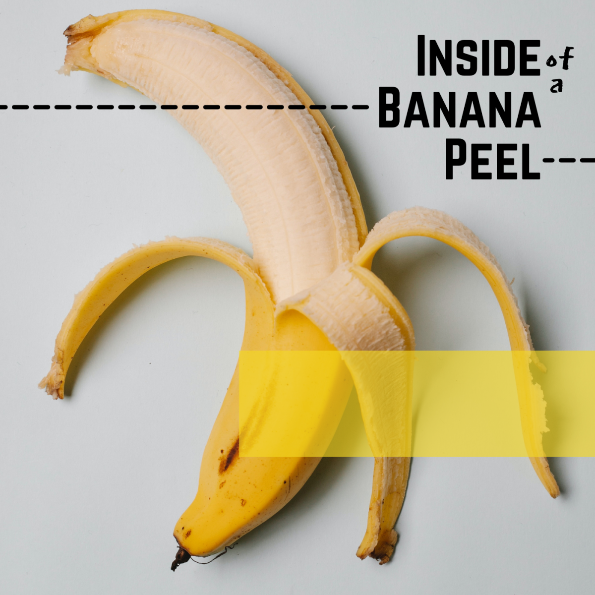 The inside of a banana skin is your goal colour.
