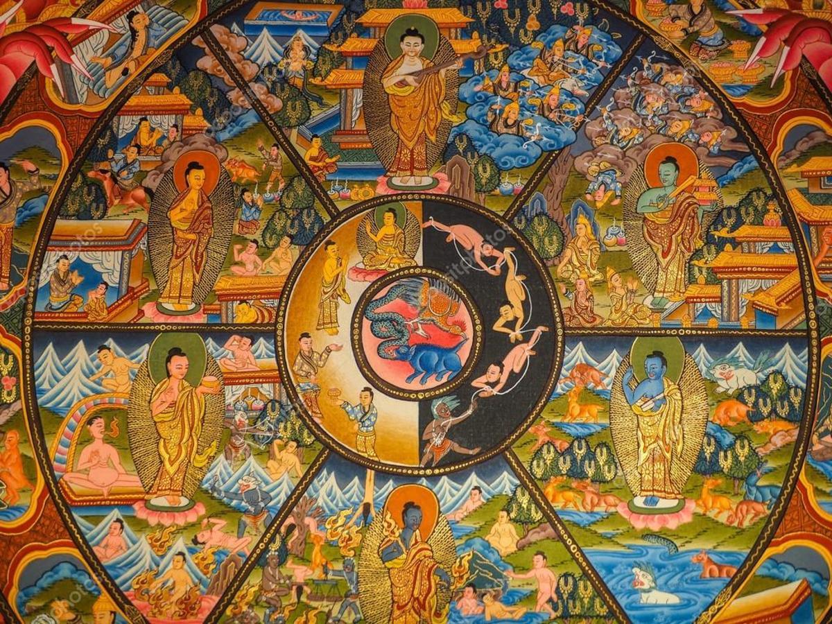Intricate Thangka art