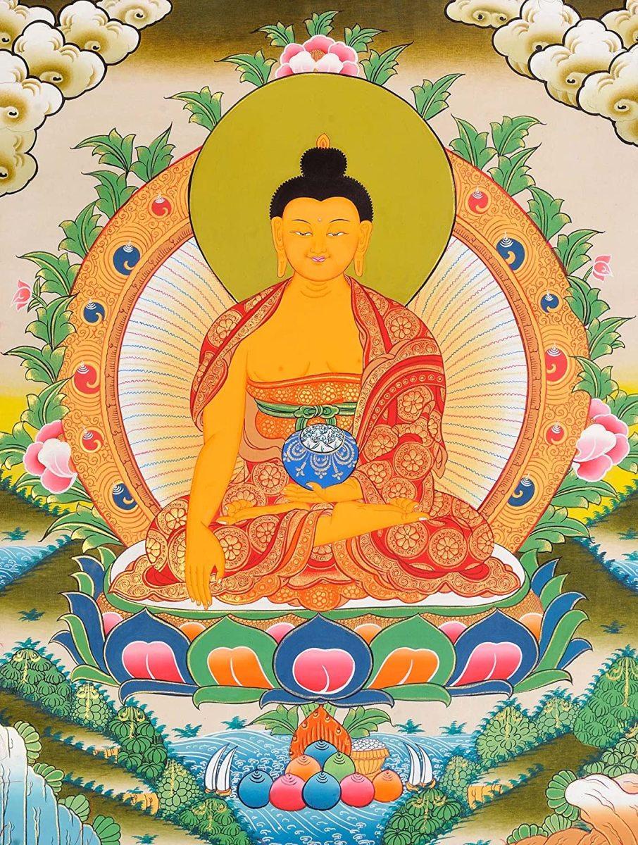 Thangka painting of the Buddha
