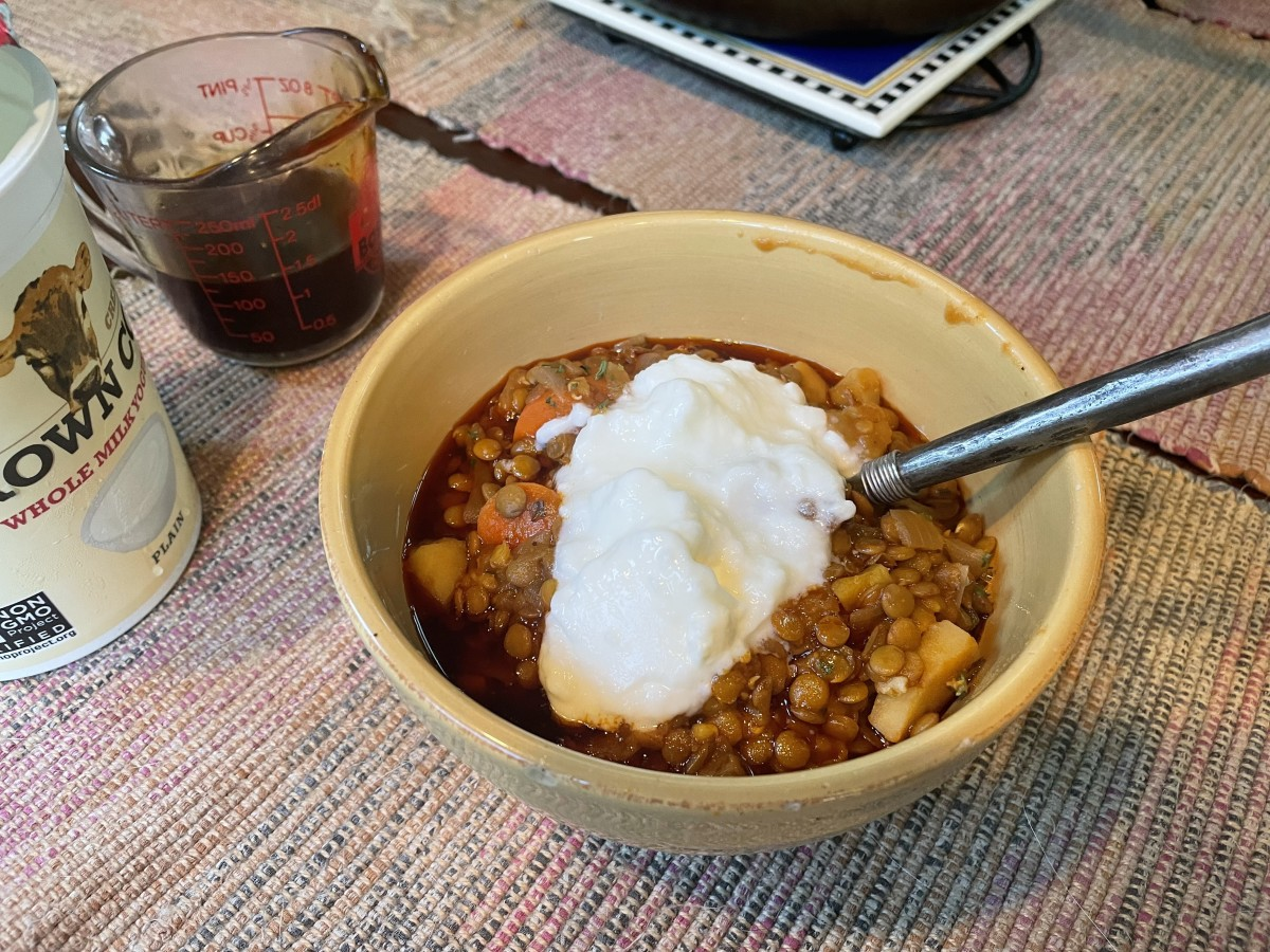 Turkish-style lentil soup with carrots