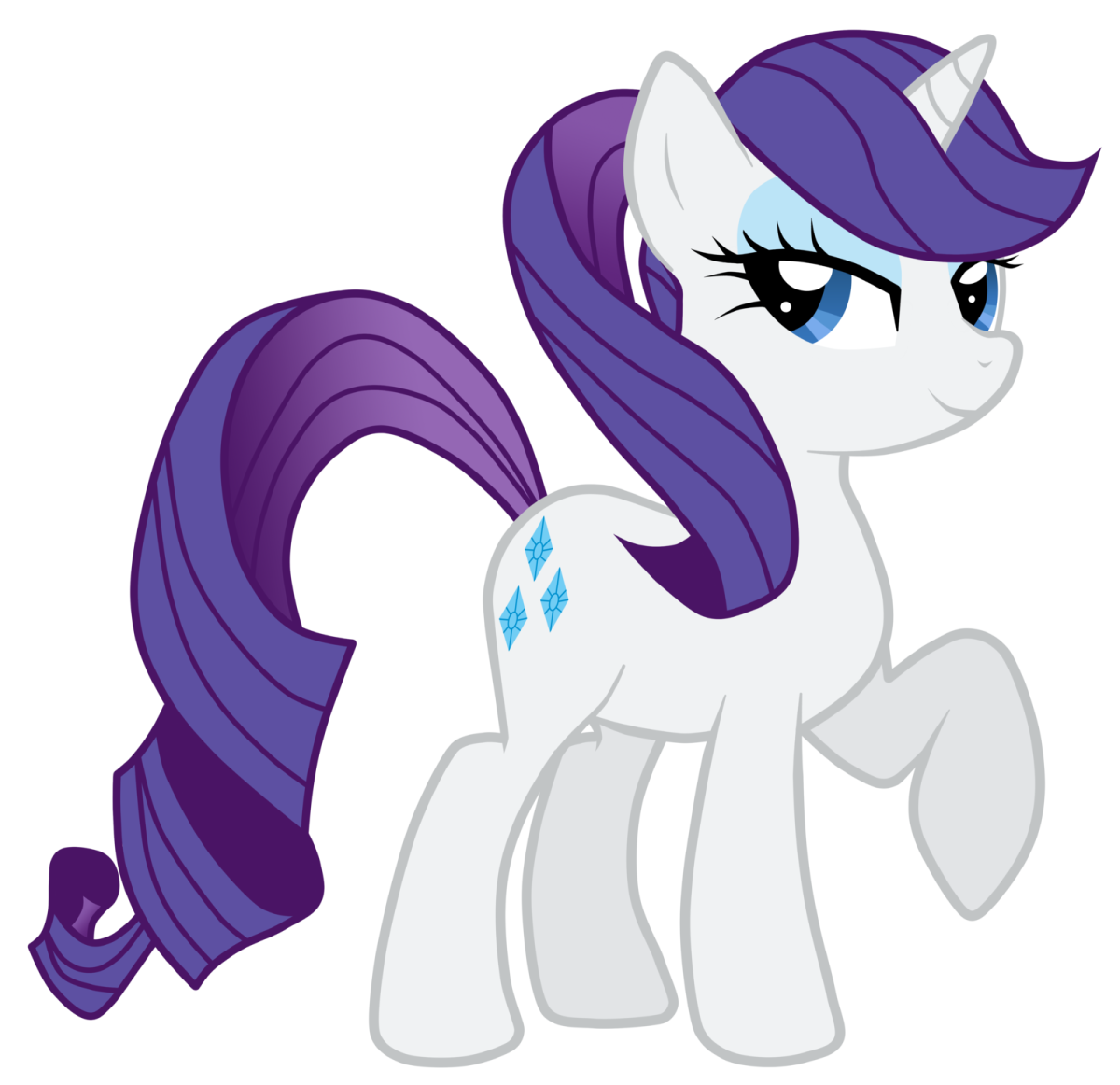 Why hello dear im Rarity. Isn't my hair simply beautiful! Theres so many different costumes and hair styles I can make for you darling you really should come check out my fan page - gorgeous ponies should all have fan pages like mine!