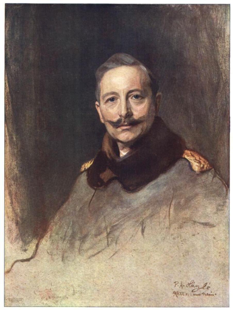 Philip de László's 1908 portrait of Kaiser Wilhelm II of Germany, the primary instigator of the First World War.