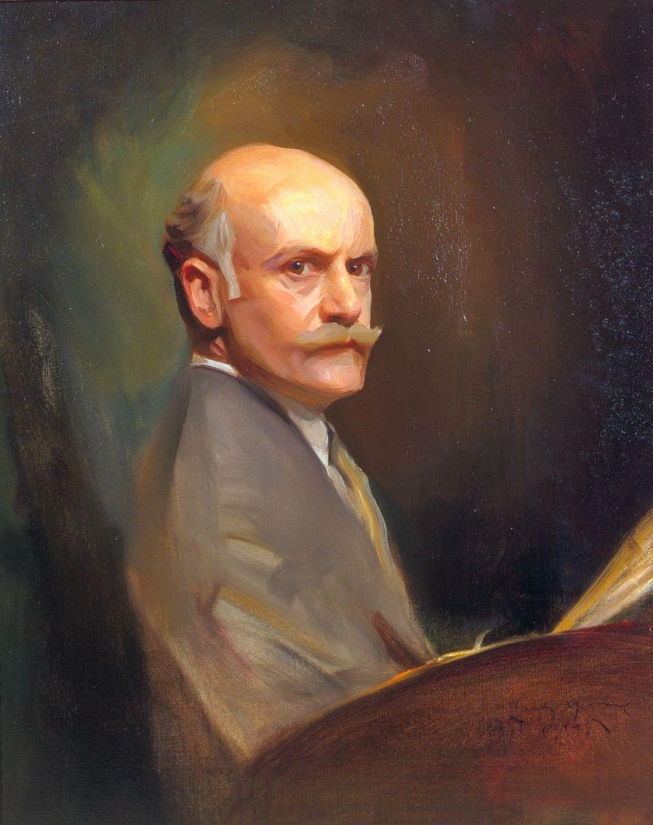 A self portrait of artist Philip de László (1869-1937.)
