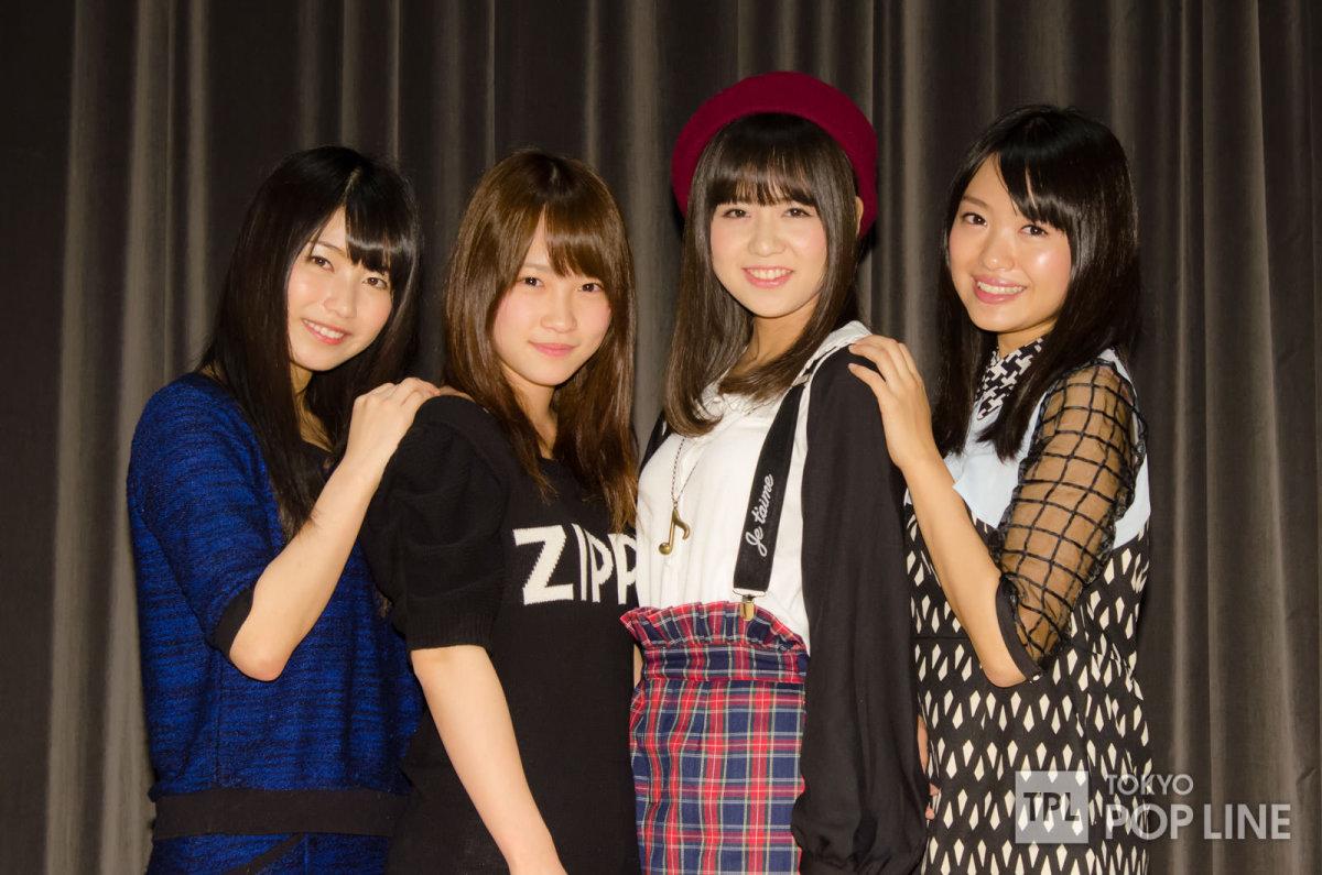 From left to right: Yui Yokoyama. Rina Kawaei, Sumire Sato & Rie Kitahara.