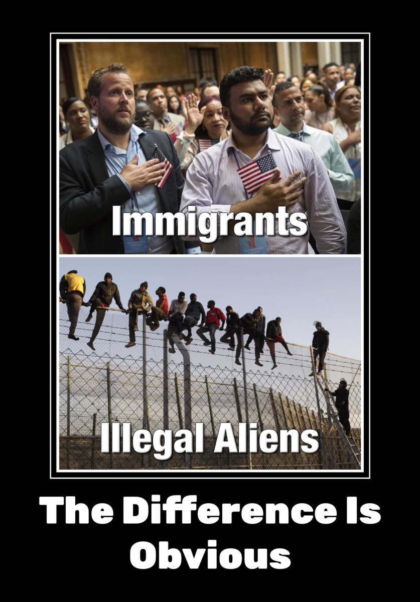 The difference between immigrants and illegal aliens