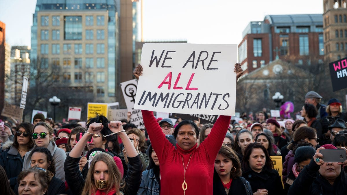 Illegal aliens protest on American streets that everyone on Earth is an immigrant