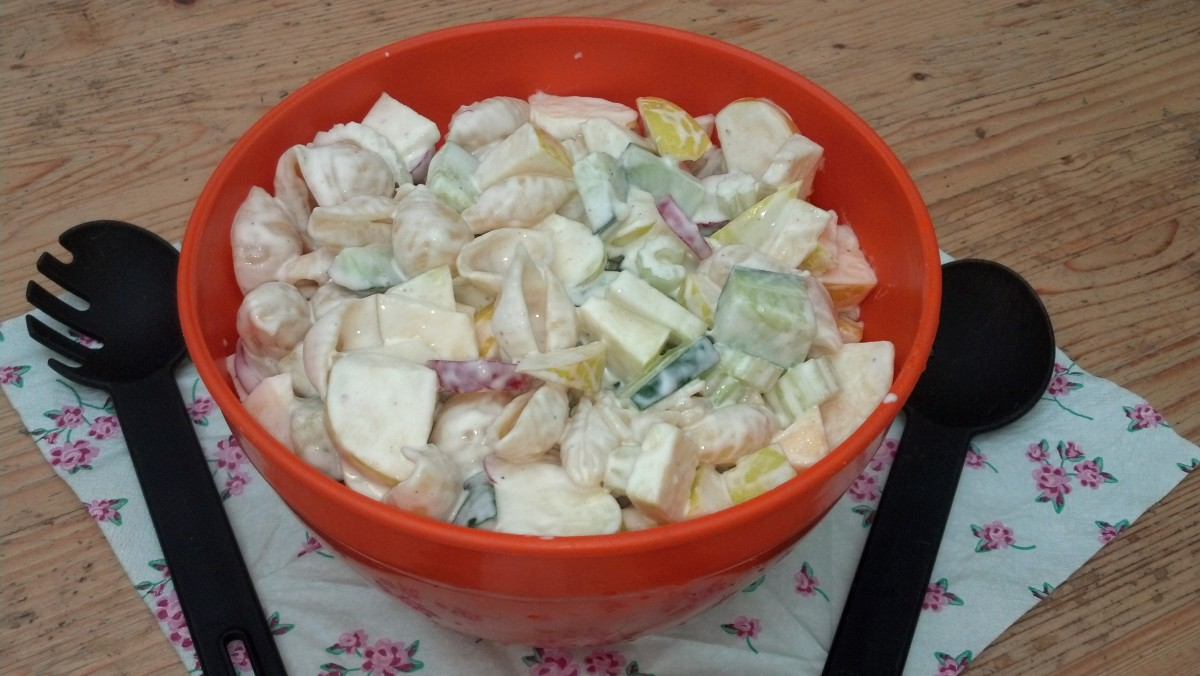 Apple Pasta Salad- see link to recipe below.