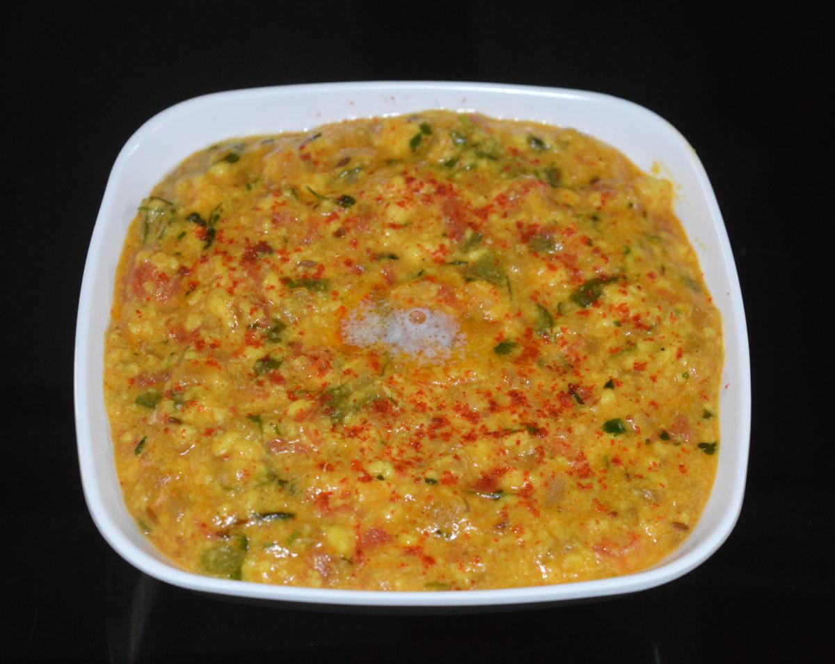 Paneer bhurji gravy (curry)