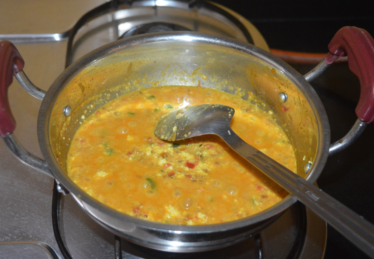 Let it boil for 2 minutes.