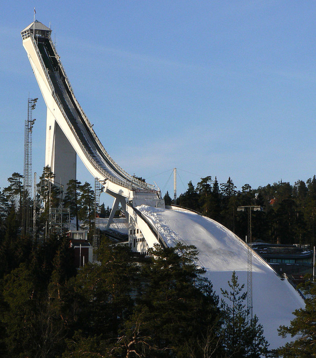 It takes courage and skill to tackle the Holmenkollen ski jump in Norway.