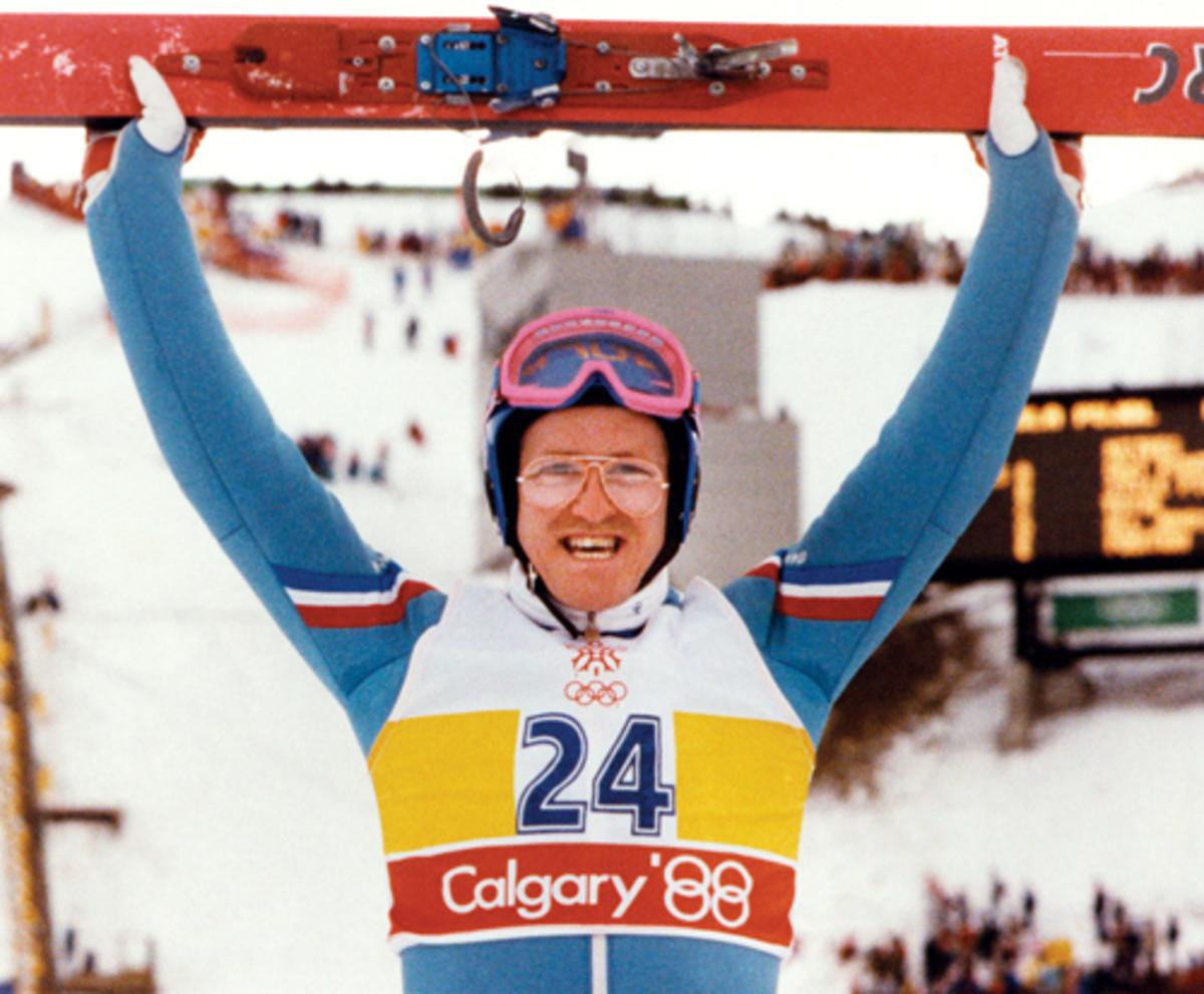 Eddie the Eagle at Calgary.