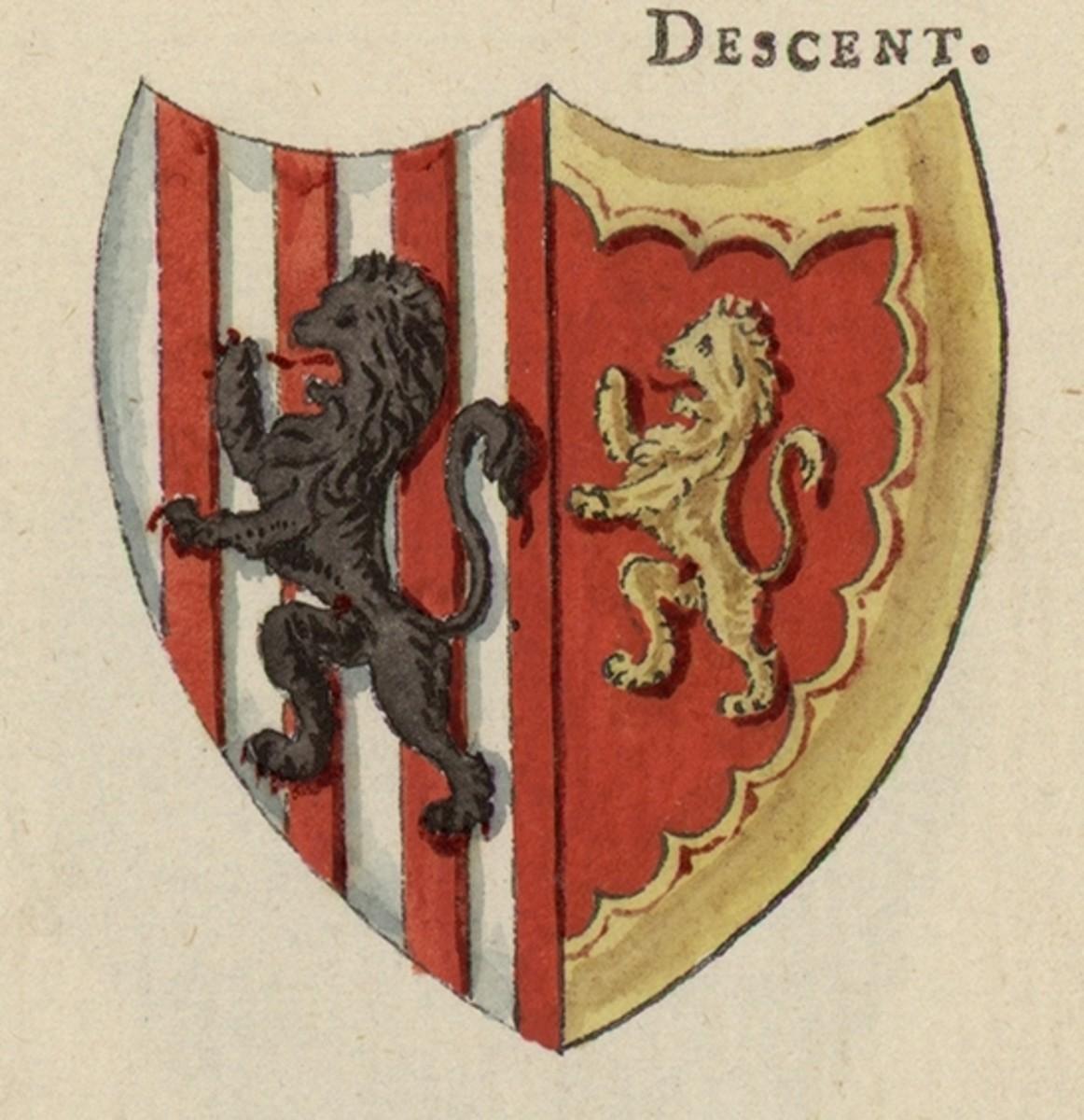 Owain Glyndŵr's coat of arms.